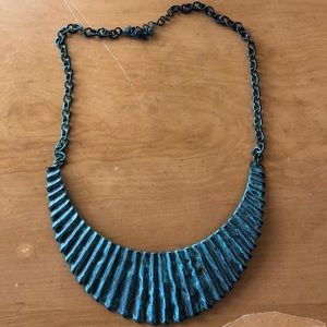 Boho Blue Chunky Necklace